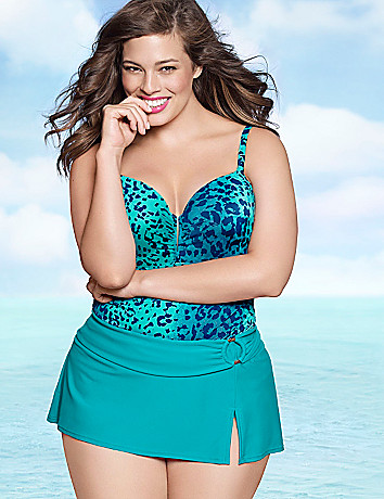 Animal swim tank with built-in balconette bra